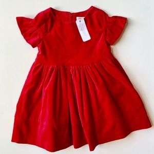 Gymboree Baby Girl Red Velvet Dress